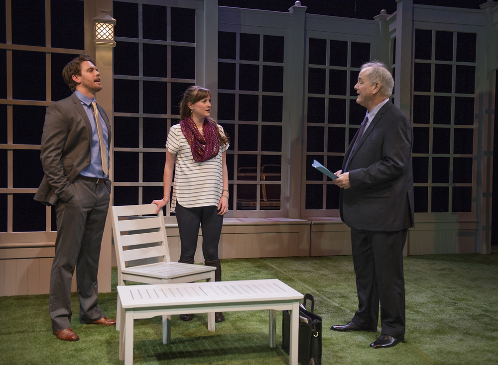 Jordan Brown (Christopher), Amanda Drinkall (Molly) and Francis Guinan (Ray)