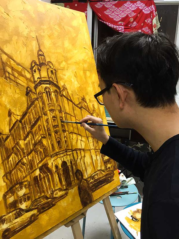 Painting the Old Hong Kong General Post Office