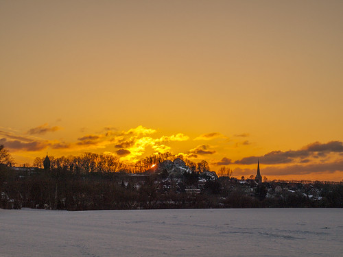 Sonne hinterm Kalkberg