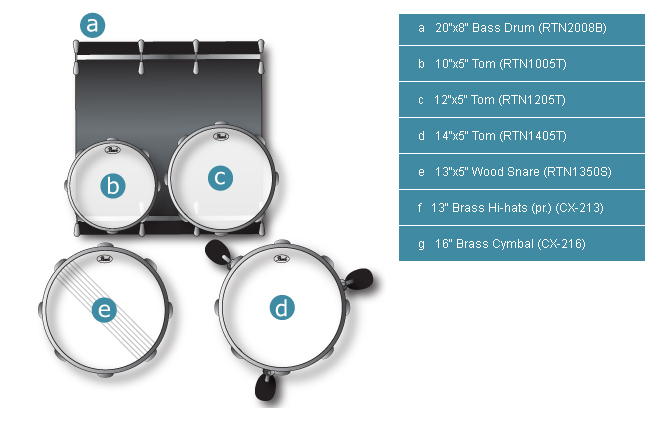 set pearl rhythm traveler