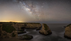 Shark Fin Cove Pano