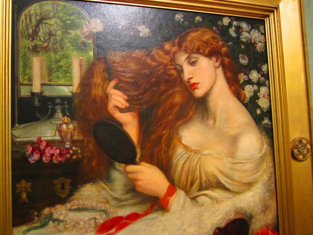 Lady Lilith (detail) - Dante Gabriel Rossetti