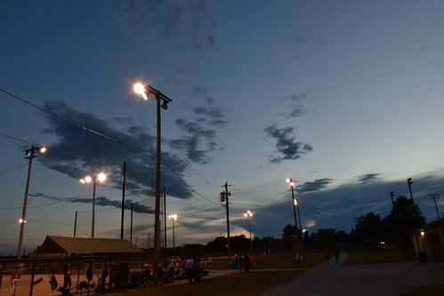 sunset sky baseball cox knight orlis