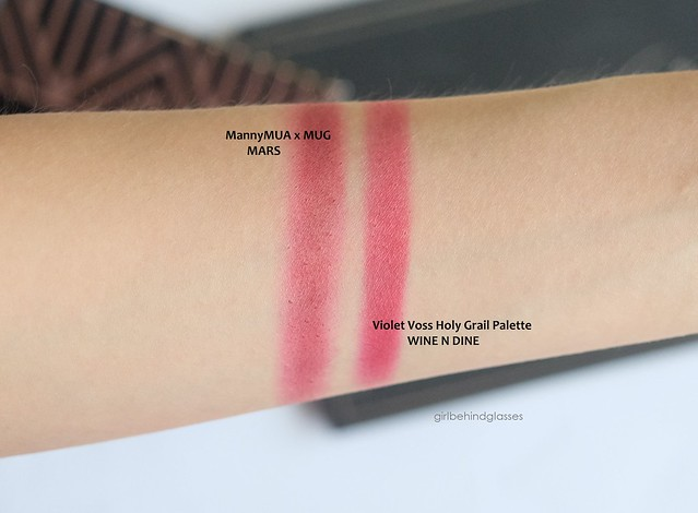 Mars vs Wine N Dine swatches