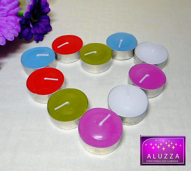 velas tea lights aromaticas para decoracion de eventos aluzzza