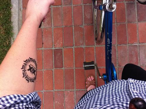 dos equis temporary tattoo.