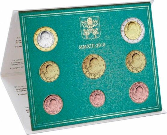 Oficiálna sada 8 Euro mincí Vatikán 2013