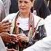 Congress workers greet Sonia Gandhi, Rahul Gandhi 02