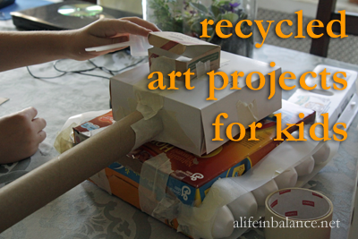 Recycled Art Project for Kids