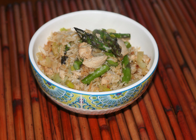 asparagus fried rice