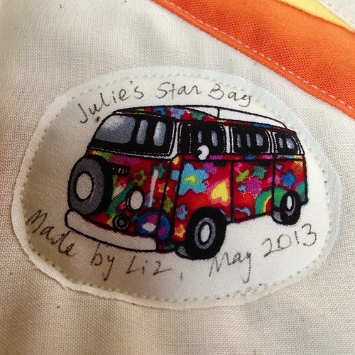 Volkswagen label by Scrappy quilts