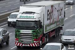 Scania R440 6x2 Tractor - PK11 LZL - Gwendoline Margaret - Eddie Stobart - M1 J10 Luton - Steven Gray - IMG_7864
