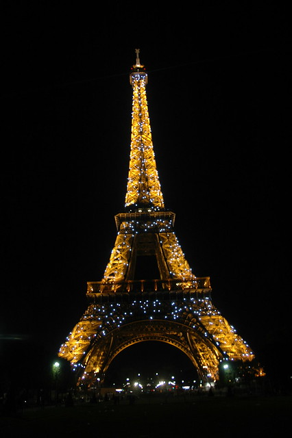 Eiffel Tower Sparkling Lights