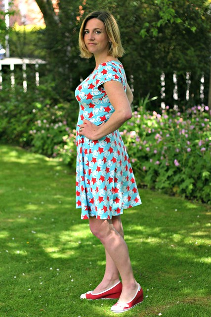 Starlion skater dress side