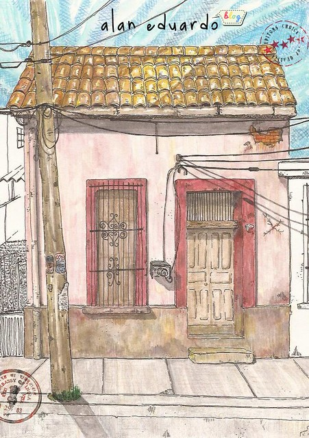 Alan eduardo blog casa en centro de tampico fachadas tampico - Casas dibujadas a lapiz ...