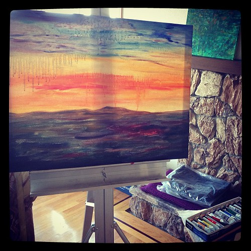 Sunset session: Tuesday, June 11, 2013 #paint