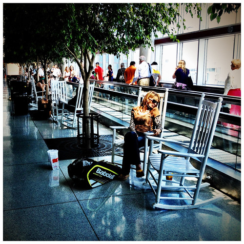 The Charlotte-Douglas International Airport rocking chairs - #170/365 by PJMixer