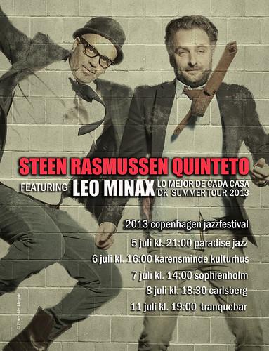 Leo Minax com o Steen Rasmussen Quinteto