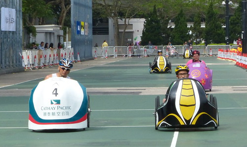 Fierce racing during the Hong Kong Pedal Kart 2013