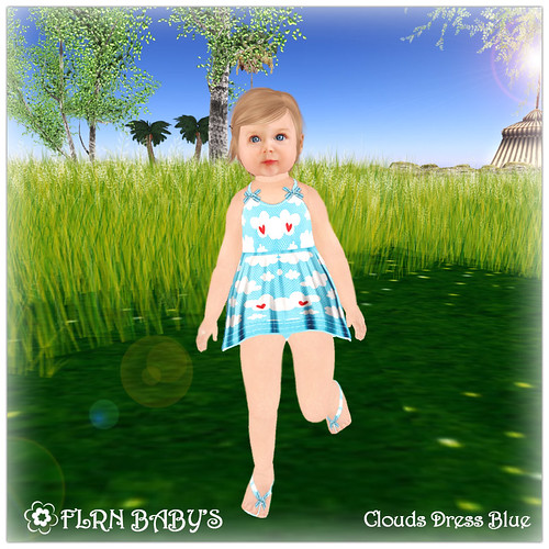 Clouds Dress Blue - 75L by ~ ✫ FLRN BABY'S & FLRN DESIGN ✫ ~