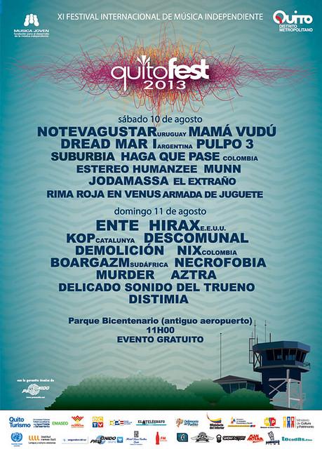 HIRAX from USA Sunday, August 11 2013 Quitofest Bicentennial Park Quito, Ecuador.