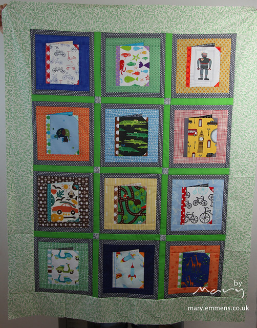 Books for baby quilt top