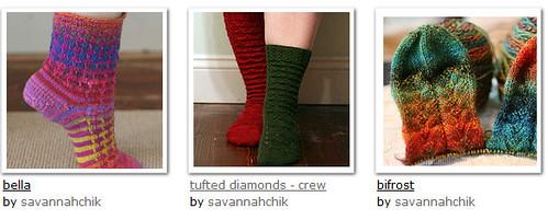 sock WIPs 2009
