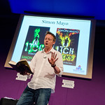 Simon Mayo takes to the stage |