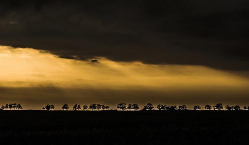 sunset storm night