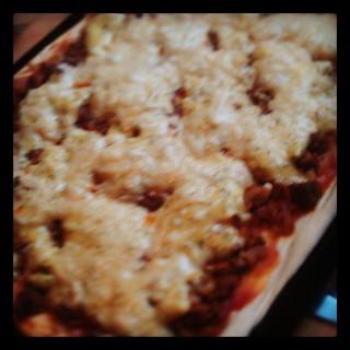 Pizza 1 egen variant på Titanic.