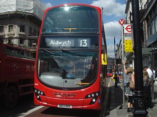 London Sovereign Transdev VH4 on Route 13, Regent Street