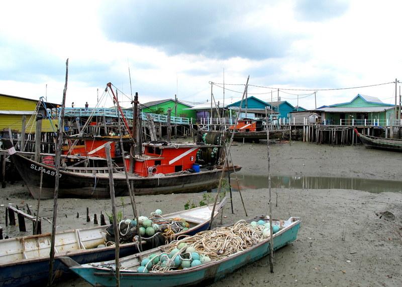 Pulau Ketam, Crab Island - boats