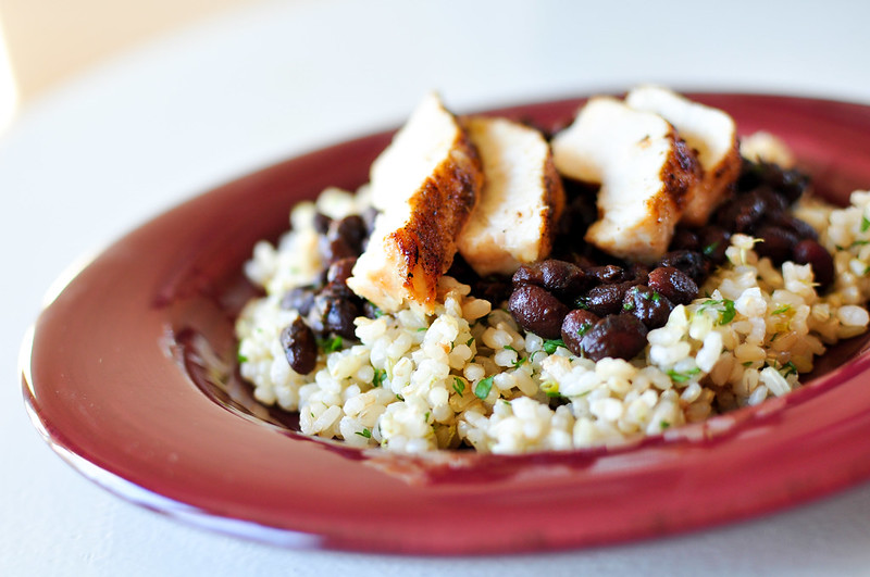 Cilantro Lime Rice and Seasoned Black Beans with Chicken 4