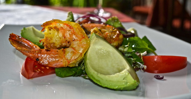 Shrimp and Avocado Salad - Panza Verde