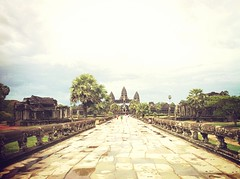 The gate of Angkor Wat