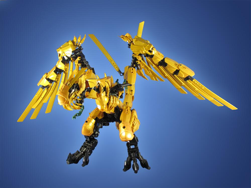 Group Of Lego Ninjago Golden Dragon Wallpaper