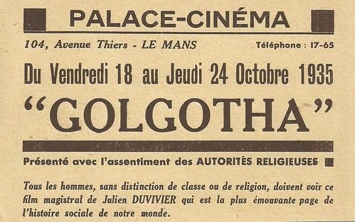 Golgotha at Palace-Cinéma