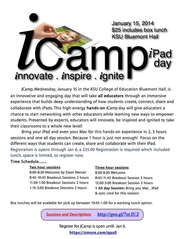 iCamp January 15, 2014 in Manhattan, Kansas: iPad Day!