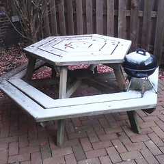 outdoor furniture, furniture, wood, table,