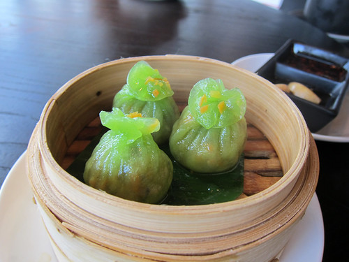 Vegetable and bamboo pith dumplings