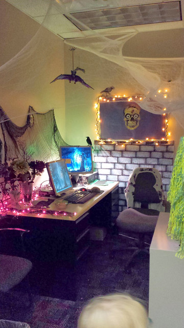 My mom's Hallowen office