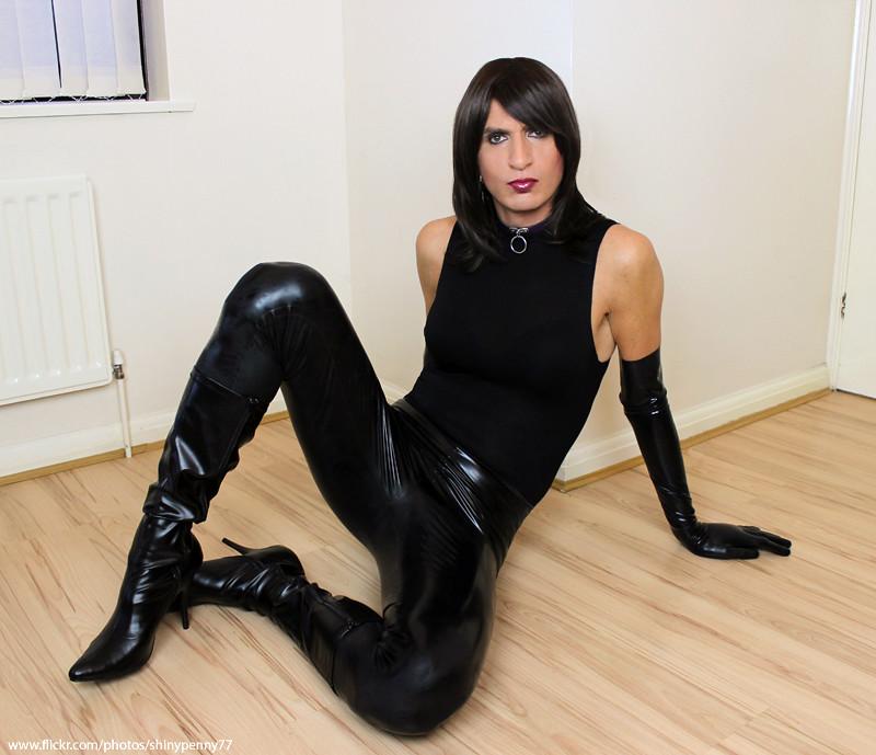 escort flicka latex leggings