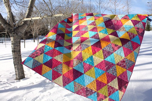 Kelsey's Mermaid Triangle Quilt