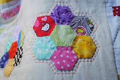 hand quilted hexi's bom 2