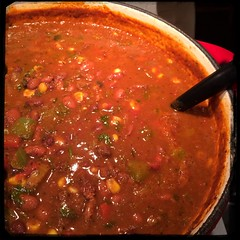 Now... Comes #Patience let it simmer... #Angus #beef #SuperBowl #ChiliConCarne