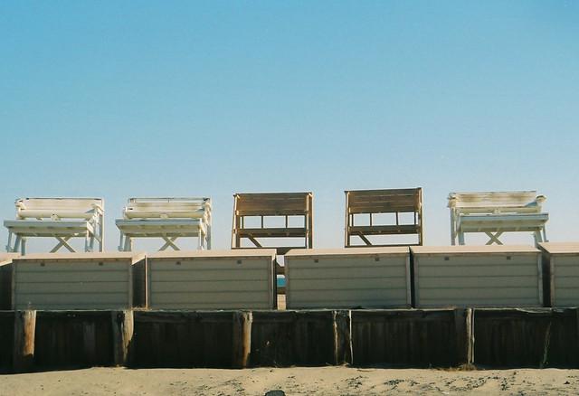 off season lifeguard towers.