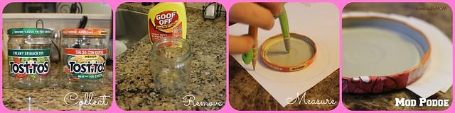 making valentines day teacher gift jars