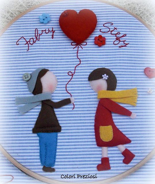Quadretto al telaio...tema San Valentino