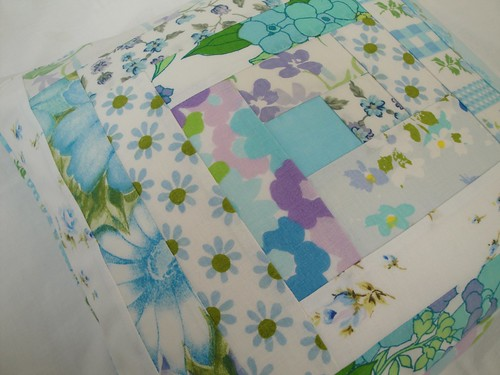 Vintage sheet pillow cover