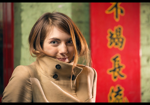 Clara (Stranger #32/100), London Chinatown by flatworldsedge